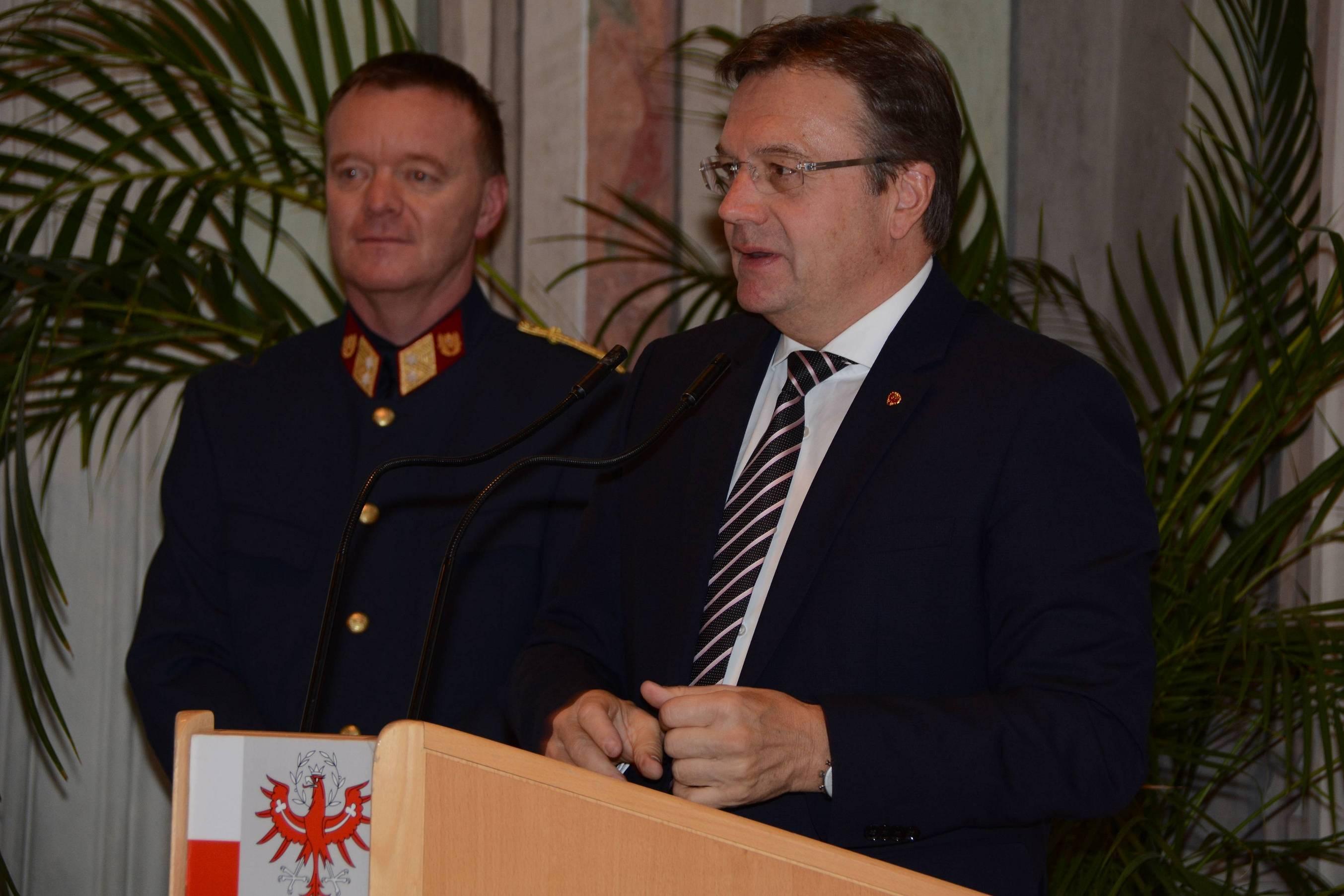 Landeshauptmann Günther Platter bei seiner Ansprache. ©LPD Gruber