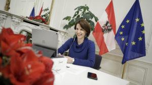 Europaministerin Karoline Edtstadler stellte dem Sicherheitsforum den European Recovery Plan und die Digitale Agenda für Europa vor.